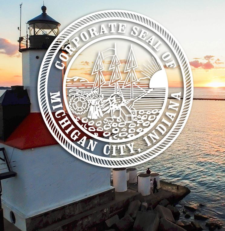 City Seal Over Lighthouse